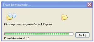 Outlook Express - kopiowanie plików po zmianie folderu magazynu