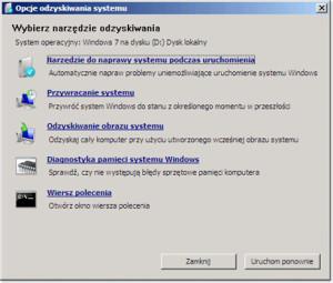 Naprawa systemu Windows 7