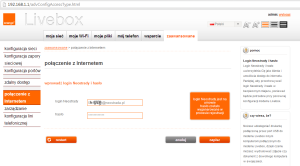 konfiguracja Neostrady Livebox