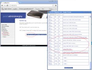 Problem z Neostradą - logi routera CellPipe Neostrada