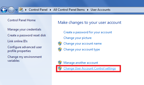 kontrola konta użytkownika